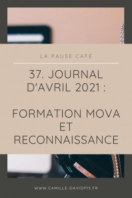 Journal d'Avril 2021 : Formation MOVA et reconnaissance