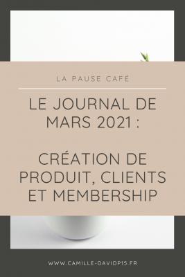 Camille-Davidp15 - journal 6 Creation de produit Membership et Clients v3