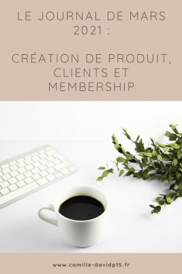 Camille-Davidp15 - journal 6 Creation de produit Membership et Clients v6