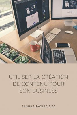 Comment la création de contenu m'a aidé dans mon business