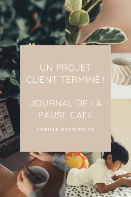 Journal de Décembre 2021 : Un projet client terminé