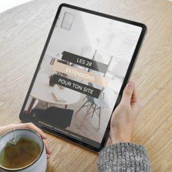 Ebook Les 28 Extensions pour ton site - Camille-Davidp15.fr